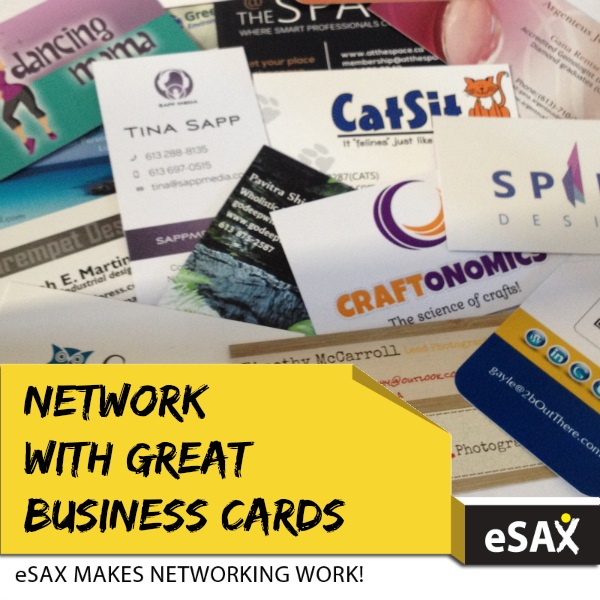 Network with Great Business Cards eSAX