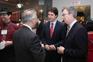 Ottawa Mayor Jim Watson (Far right) Justin Trudeau (2nd from right) Jarrod Goldsmith (Far left)